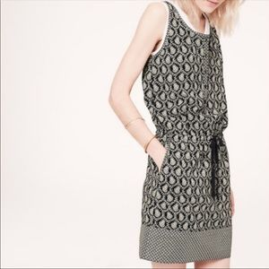 Lou & Grey Paisley Drawstring Dress